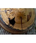 Glass Covered Dish. Vintage Reversed Painting. Camel, Desert Motif. G-330 - $35.00