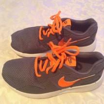 Size 4 Nike shoes Kaishi running gray orange sports athletic boys - $39.99