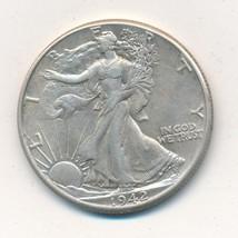 1942 WALKING LIBERTY SILVER HALF DOLLAR-VERY GENTLY CIRCULATED-SHIPS FRE... - $18.95