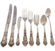 French Renaissance Reed & Barton Sterling Silver Flatware Set Service 70 pcs Dn  - $4,200.00
