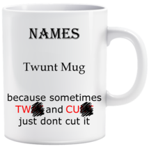 "Personalised, Novelty ""Twunt"" mug birthday, Christmas, Secret santa gift - $1.30+"