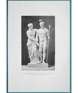 NUDE Sculpture Venus de Milo Aphrodite & Soldier - VICTORIAN Era Print - $16.20