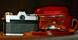 Zeiss Ikon Contaflex Super Camera with hard leather Case AA-192011 Vintage image 6