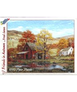 White Mountain FRIENDS IN AUTUMN 1000 pc Used Jigsaw Puzzle Fred Swan 2001 - $6.92