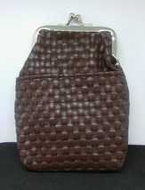 Fujima Brown Basket Weave Design Print Vinyl 100s Cigarette Pack Case - $6.92