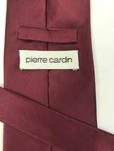 Pierre Cardin Solid Garnet Silk Tie Maroon Fsu Boston College - $6.70