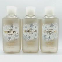 3 Pack Bath & Body Works FRESH SPARKLING SNOW Shower Gel Wash 10 fl.oz 2... - $32.25