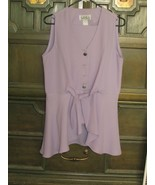 PANTS OUTFIT lavender straight leg, sleeveless top with flair bottom (34) - $14.03