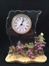CASA ELITE Decorative Clock with Grape Design -... - $28.04
