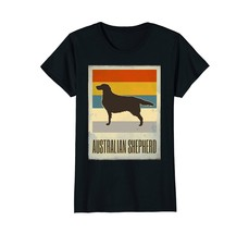 Australian Shepherd Vintage Retro Dog Lover T Shirt - $19.99+