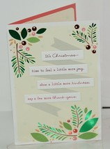 Hallmark XZH 623 1 Foliage Pink Red Berries Christmas Card Package 4 image 2