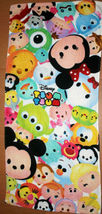 Mickey & Friends Tsum Tsum Big Head Polka Design 34 X 80 Cm White Cotton Towel - $10.99