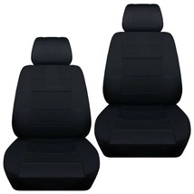 Front set car seat covers fits 2008-2020 Chevy Silverado     solid black - $79.99