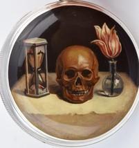 Silver&Enamel Charles Vacheron Verge Fusee CALENDAR Skull Memento Mori  ... - $13,650.00