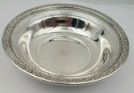 Beautiful Sterling Silver Pierced Edge Candy or Nut Bowl w/ Floral Design  - $120.00