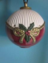 FITZ & FLOYD 1989 Vintage Christmas Potpourri Ball Ornament Bottom Opening - $9.95
