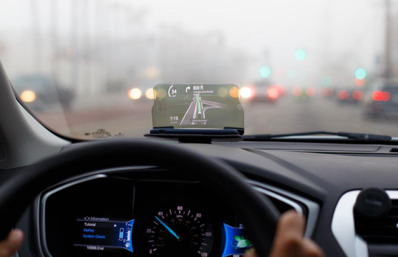 HUDWAY Glass  — Head Up Display (HUD) Car GPS Navigation Projector Driving Gadge