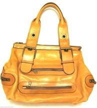 Chloe Folded Satchel Leather Bag w/ Buckle Straps & Zipper Pockets - Old... - $115.65