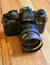 Minolta X-700 w/ 28mm f2.8 Lens, Flash, Autowinder Looks/Works Great. Ba... - $130.90