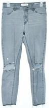Pacsun Women's Gray Denim Distressed Raw Hem Ankle Jegging Pants Size 26