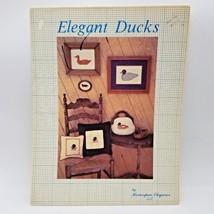 Elegant Ducks by Homespun Elegance Vintage 1981 Counted Cross Stitch Leaflet - $9.99