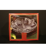 Gorham Crystal 8 Inch Angel Divided Relish Dish Holiday Traditions~Germany - $9.99