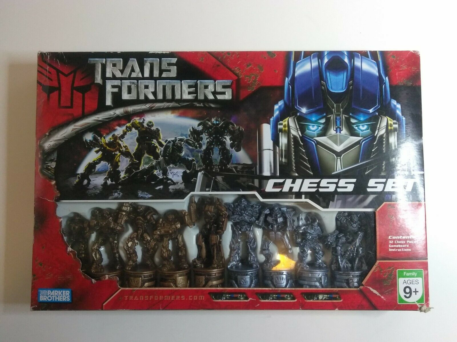 Transformers Chess Set 2007 Parker Brothers Complete Set. - $28.25