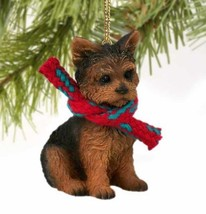 YORKIE YORKSHIRE TERRIER  DOG CHRISTMAS ORNAMENT HOLIDAY XMAS scarf gift - $9.50