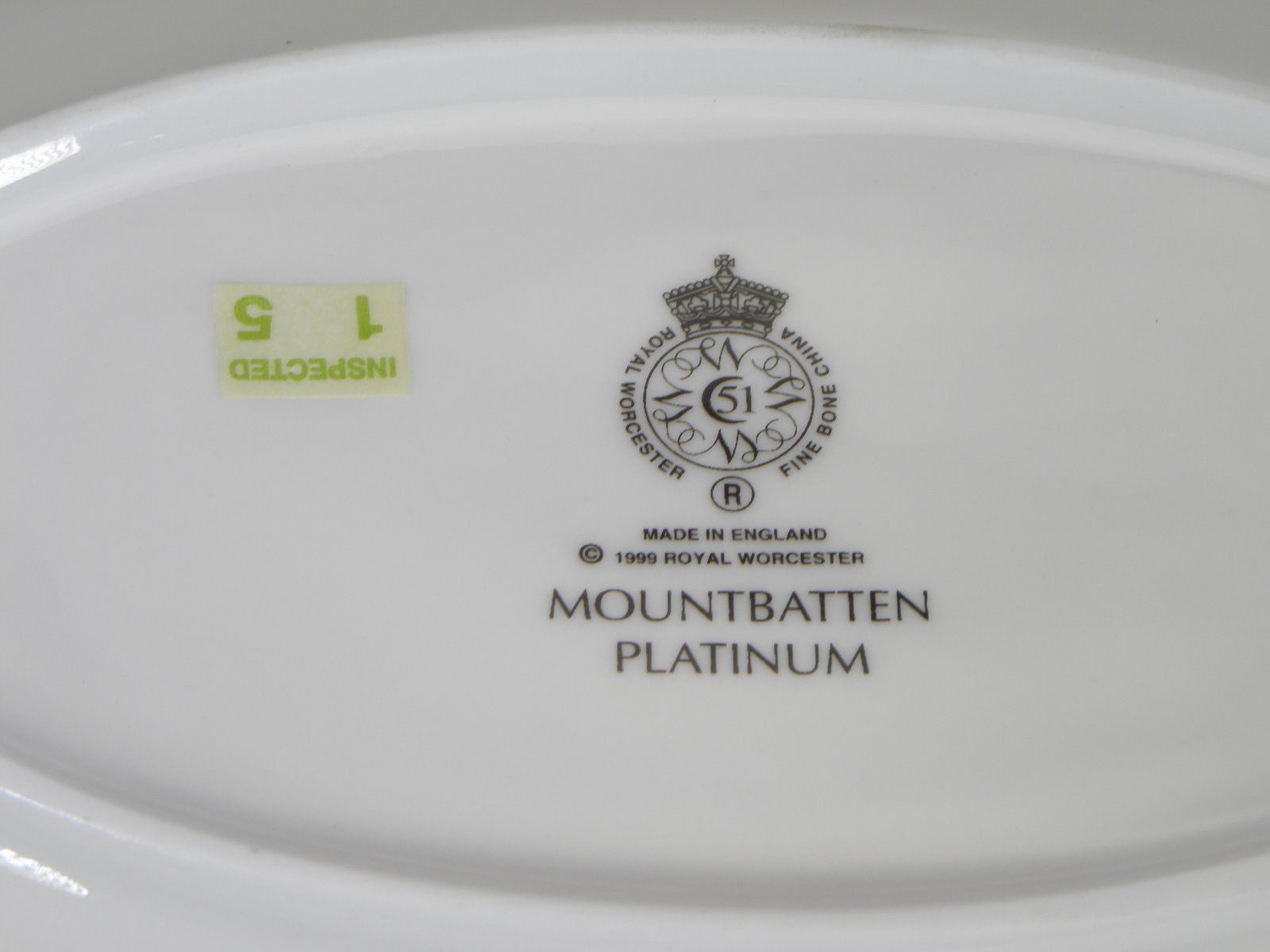 Royal Worcester Mountbatten Platinum Gravy Liner NEW WITH TAGS Made in England