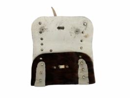 Leather Suede Cowhide Handcrafted Lot - Belt Handbag Bag Purse Clutch Stocking image 11