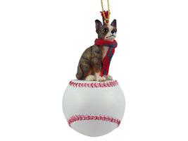 Chihuahua Brindle & White Baseball Ornament - $17.99