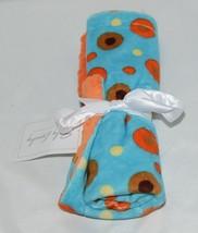 Baby Laundry Minky Blanket Orange Brown Yellow Unisex image 1