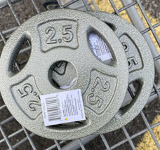 set of 2-10 LB Pound CAP Weight Cast Iron Plates standard 2 inch 20lb total