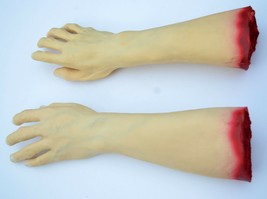 Scary Halloween Props Life Size Realistic Severed Foam and Latex Arms Ha... - $21.11