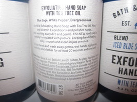 3 bottles Bath & Body Works Exfoliating Hand Soap Iced Blue Sage image 3