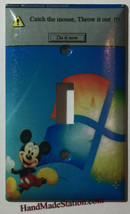 Windows Mickey mouse throw it out Switch Outlet wall Cover Plate Home Decor