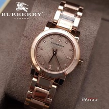 Burberry BU9215 The City Rose Gold Ion Plated Ladies Watch - 26mm - Warranty - $318.00