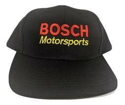 Bosch Motorsports Hat Black Racing Snapback Garage Hipster Embroidered N... - $20.82