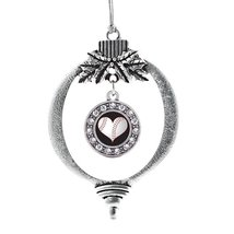 Inspired Silver Heart Of A Baseball Player Classic Holiday Christmas Tree Orname - $14.69