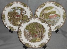 Set (3) Johnson Brothers FRIENDLY VILLAGE PATTERN Dinner Plates ENGLAND - $98.99