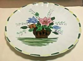 "BLUE RIDGE COLONIAL FLOWER BOWL VARIANT CHOP PLATE / CAKE PLATE   11 1/2"" - $34.95"