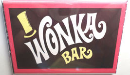 WILLY WONKA AND THE CHOCOLATE FACTORY WONKA BAR MAGNET 2X3 INCHES CHARLIE   image 1