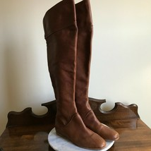 Via Spiga Georgia Camel Brown Leather Over The Knee Boots Womens Size 7.5 - $69.95
