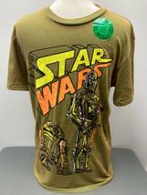 C3PO & R2D2 Loco Motor Retro Angustiado Gráfico Camiseta Mediano Star Wars - £20.02 GBP