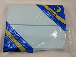 "Danville No-Iron Sheet Double Flat Blue 81"" x 96"" - $12.95"