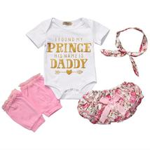 cute baby girl short sleeve floral clothes - $11.98+