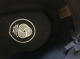 DORFMAN PACIFIC Fedora Black Wool Felt Velvet Hat Feather Sz M Brush Made USA image 10