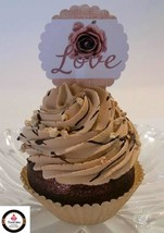 Rustic Farmhouse Fake Cupcake Chocolate Decoration Prop - $5.93