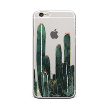 New Cactus Art Pattern Clear Hard Case for iPhone & Samsung Phone Case  - $7.00