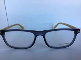 New Tom Ford TF 5356  090 55mm Transparent Blue Eyeglasses Frame Italy - $107.99